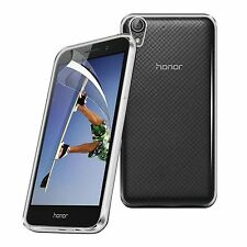 For Huawei Honor 5A - Tough Thin Clear TPU Gel Case Cover & Screen Guard