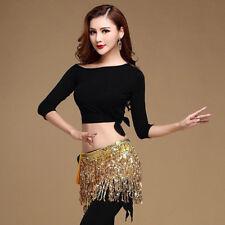 US Belly Dance Costume Tribal Triangle Sequins Tassel Hip Scarf Skirt Belt Wrap