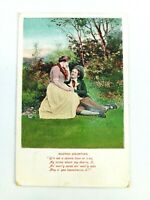 Vintage Postcard Scotch Courting Women and Man Courting Posted 1912