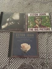 John Elton 3 Cd Lot Something About The Way The Big Picture Sleeping With Past