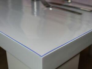 Tischschutz Folie Transparent 2mm  Schutzfolie Tischdecke PVC 70/80/90/100/120