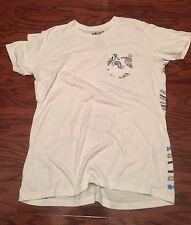WALKER STREET White/Graphic Back  Round Neck Left Chest Pocket T-Shirt Size L
