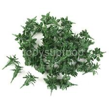 50 Green Heart Leaves Model Ground Cover Grass Building Scenery Layout 5.5cm
