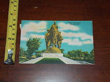 Postcard Rare Vintage Pioneer Mother Statue Penn Valley Park Kansas City Mo 1950