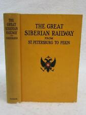 Shoemaker GREAT SIBERIAN RAILWAY FROM ST. PETERSBERG TO PERKIN 1st 1903 Map