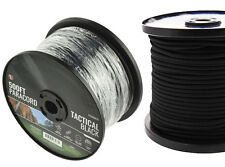 Black 550 Paracord Spool 500 Ft Parachute Cord 7 Strand Camping Survival NEW