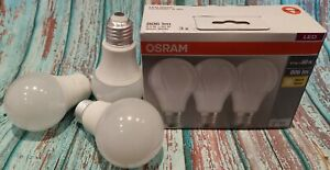 3x OSRAM LED 8,5W=60W BASE CLASSIC A 60 E27 Lampen matt 806lm 2700K warmweiß A+