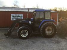 2002 New Holland Ts110 4x4 Farm Tractor w/ Cab & Loader