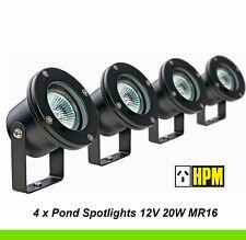 4 x HPM 12V Garden Light Pond Spotlights 20W MR16 IP68 Waterproof DIY