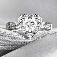 QCNL160B Handmade 1.70ct Natural White Topaz 14KT White Gold Ring Size US 7