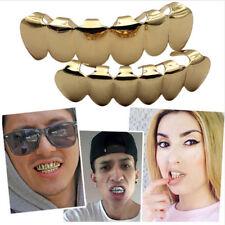18K Real Gold Filled Custom Slugs Top Bottom GRILLZ Mouth Teeth Set