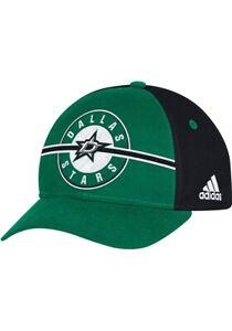 NHL Adidas Dallas Stars Structured Adjustable 6 Panel 2-tone Hat Cap New