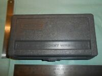 "VINTAGE ""CRAFTSMAN SEARS, ROEBUCK & CO."" METRIC 1/4"" SOCKET RATCHET CASE BOX"