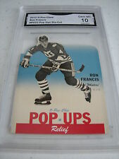 RON FRANCIS WHALERS 2012 O-PEE-CHEE POP UPS DIE-CUT # PU23 GRADED 10