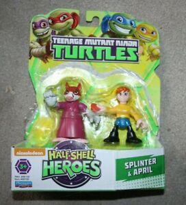 TMNT -Teenage Mutant Ninja Turtles -Half Shell Heroes Splinter & April - Opened