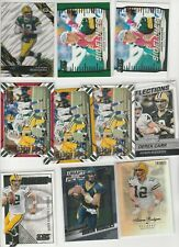 AARON RODGERS LOT (30) DIFFERENT W INSERTS + (99) PACKERS LOT CLAY DAVANTE