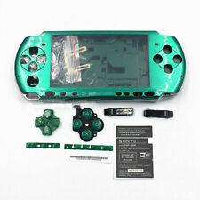 PSP 3000 Full Housing Shell Case Replacement Kit Metallic Green Original NEW!