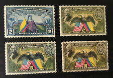 Ecuador 1937-39 Sesquicentennial Stamps. Mint & Used. Beauties!