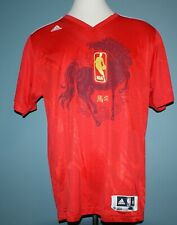 Cole Aldrich 2013-14 Knicks Game-Used Chinese New Year Shooting Shirt Stiener