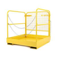"""36""""x36"""" Forklift Safety Cage Steel Sturdy Work Platform Lift Aerial Basket 749lb"""