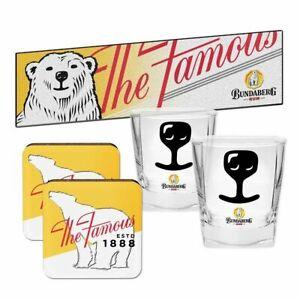 Bundaberg Rum Bundy Bar Essentials Gift Pack - Bar Runner, Coasters, Glasses