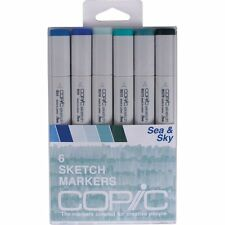 Copic Markers Sea and Sky Chisel Point Sketch Marker Assorted, 6/Pack