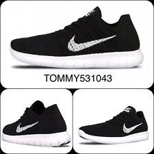 V49 Flyknit Correr Gimnasio Nike Free rn Negro Blanco Uk Size 7 EUR 41 831069 -001