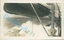 More details for royal navy battleship hms ramillies on rough sea 5.5 x 3.5 inch original photo