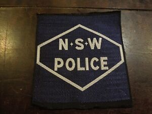 NSW Police Department Officer Obsolete Patch New South Wales Australia