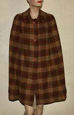 Pendleton vintage wool plaid cape poncho