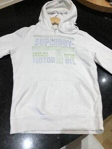superdry hoody size small. White