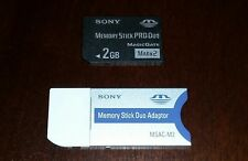sony memory stick pro duo 2 GB MARK 2 with adapter