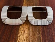 - (2) Tiffany Art Deco Sterling Silver Shoe Buckles / Scarf Fasteners