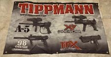 "New Tippmann X7 98 TiPx A5 Paintball Marker Promo Banner Wall Hanging 48"" x 29"""