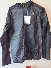 Mens New Salomon Fast Wing Hoodie Jacket Size Medium Color Forged Iron