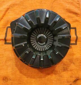Arlen Ness Black 15-Spoke Inverted Series Air Cleaner for M8 17-20 1010-2464