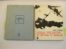 2pc Lot Polish Language, Jan Jokiel, Udzial Polakow W Bitwie O Anglie 1968, 1972