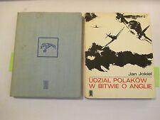 2pc Lot Polish Language, Jan Jokiel, Udzial Polakow W Bitwie O Anglie 1968, 1972