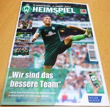 HEIMSPIEL + 23.09.2017 + SV Werder Bremen vs. SC Freiburg + Programm +