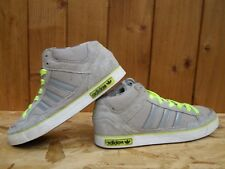 Adidas VC 1000 Men's Mid Cut Trainers Shoes Canvas/Suede Grey/Neon yellow Q34313