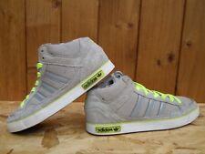 Adidas VC 1000 Uomo Scarpe da ginnastica Mid Cut Tela/Pelle Scamosciata Grigio/Neon Giallo Q34313