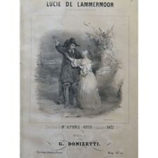 DONIZETTI G. Lucie de Lammermoor Opéra Chant Piano ca1842 partition sheet music