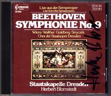 Herbert BLOMSTEDT Signiert BEETHOVEN Symphony 9 Edith Wiens Goldberg Stryczek CD