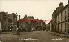 REAL PHOTOGRAPHIC POSTCARD OF BRIDGEGATE, HOWDEN, (NEAR GOOLE), EAST YORKSHIRE