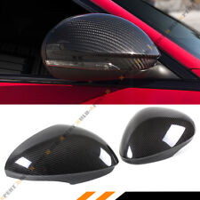 FOR 2017-2020 ALFA ROMEO GIULIA QUADRIFOGLIO CARBON FIBER SIDE MIRROR COVER CAPS