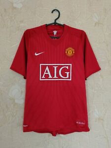 Manchester United 2007 - 2009 home football shirt jersey Nike size M