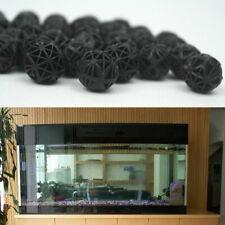 New listing 100pcs 18mm Biological Balls Aquarium Fish Tank Wet/Dry Filter Media Black U1B5