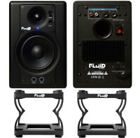 Fluid Audio F4 Studio Monitor-Boxen + DS5 Tisch-Stative