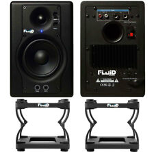 Fluid Audio F4 Monitor-Boxen + DS5 Stative