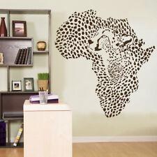 Vinyl Wall Decal Sticker African Wild Cat Leopard Wall Art Decor African Map